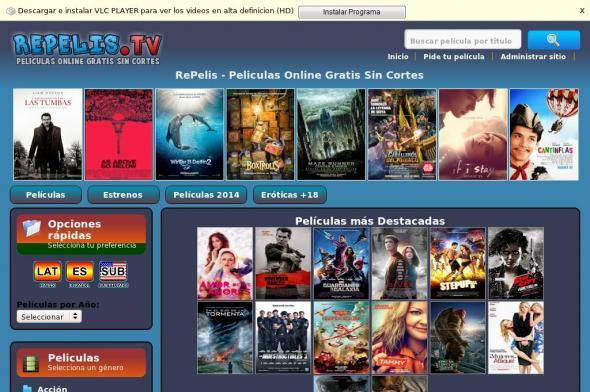paginas para ver peliculas online gratis espanol
