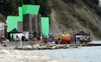 03.09.2014., Split - Snimanje popularne serije Igra prijestolja na Duilovu. Photo: Tino Juric/PIXSELL