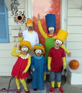 las-mejores-fotos-de-disfraces-originales-para-halloween-2014-familia-simpson